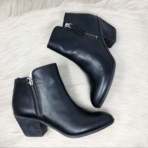 NWT Frye Judith Dual Zip Black Leather Bootie